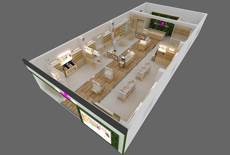 Cosmetics Store Interior Design