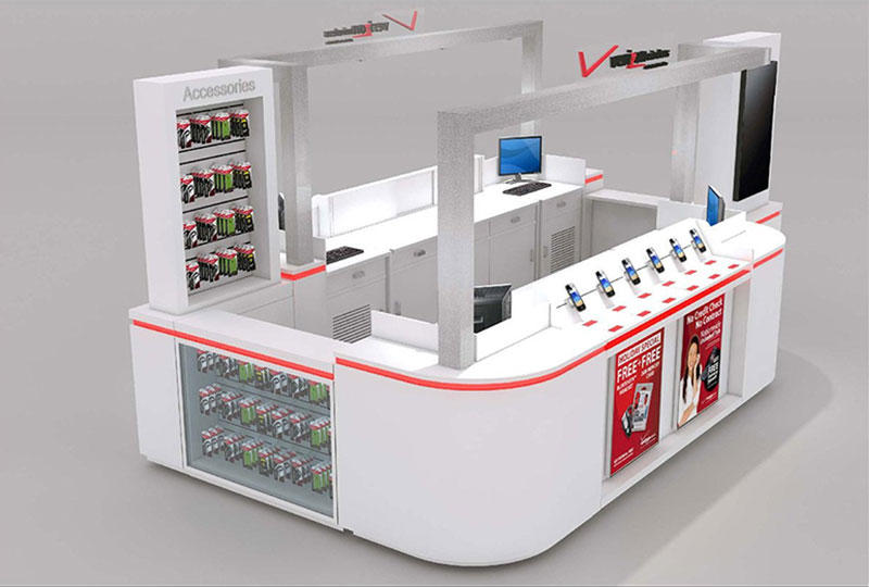 Mobile Phone  Display Kiosk Design