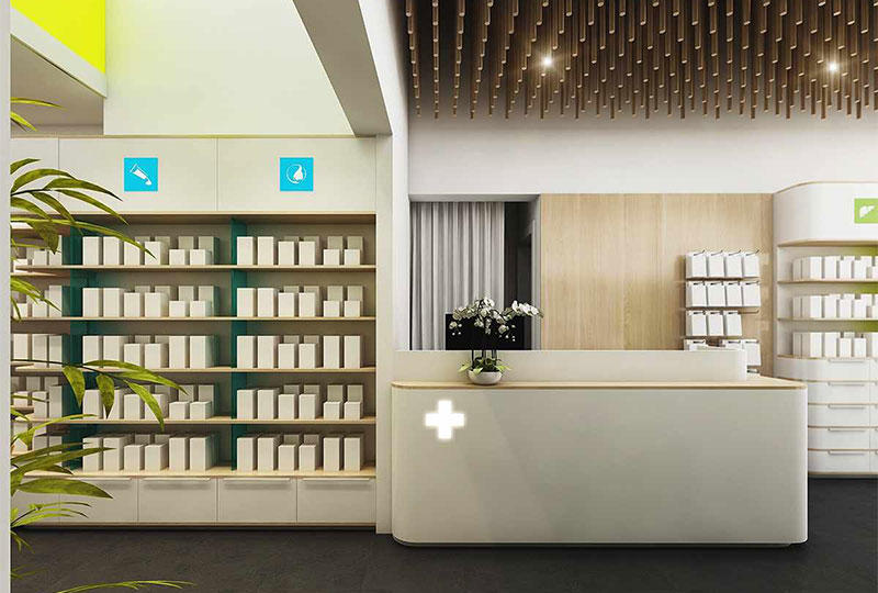 Retail Pharmacy Shop Interior Design
