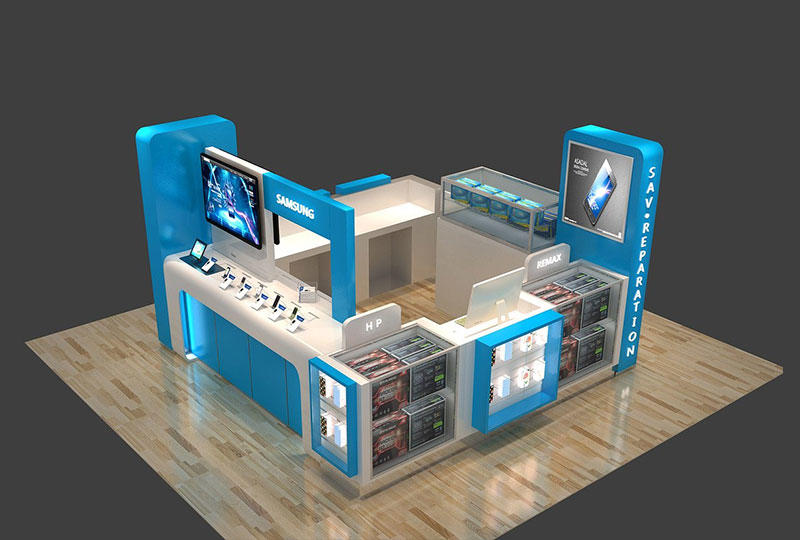 Cell Phone Shop Display Kiosk
