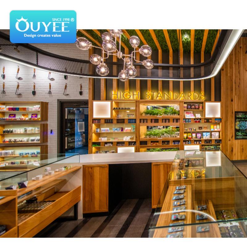 cannabis dispensary display showcase counters