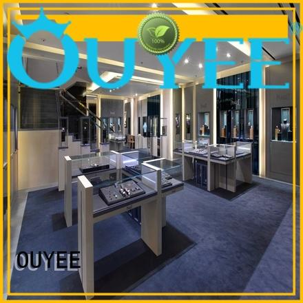 OUYEE chic style commercial jewelry display cases commercial for wholesale