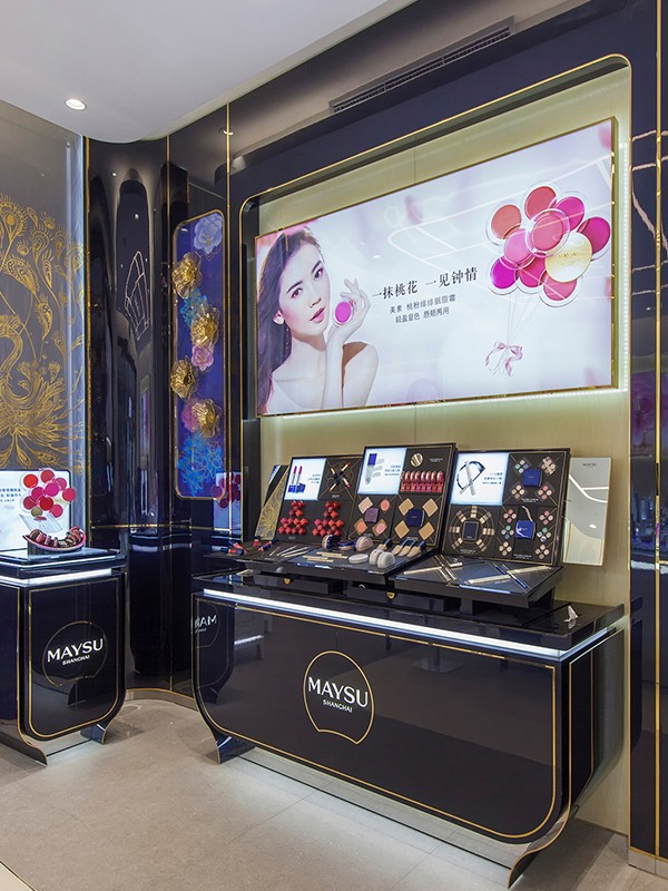 jewellery shop showcase design latest for store OUYEE-6