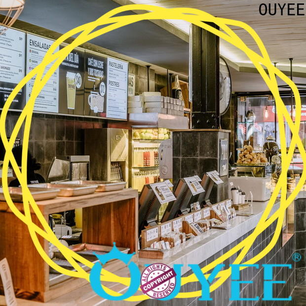 OUYEE on-sale coffee shop interior design plan bulk production for bar