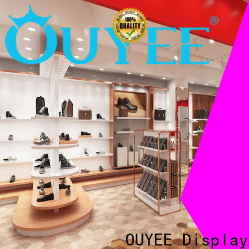 OUYEE one-stop rotating shoe rack factory for chain shop